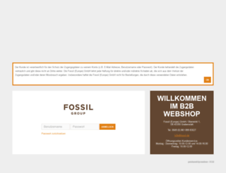 b2b.fossil.de screenshot