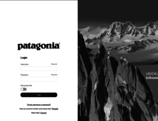 b2b.patagonia.com screenshot