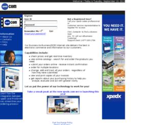 b2b.xpedx.com screenshot