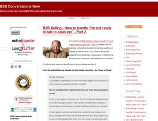 b2bconversationsnow.com screenshot