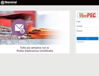 b2bpec.webmailpec.it screenshot