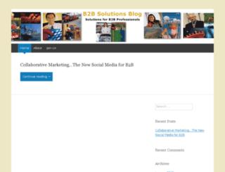 b2bsolutionsblog.wordpress.com screenshot