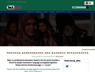 baal.org.uk screenshot