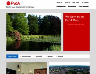 baarn.pvda.nl screenshot