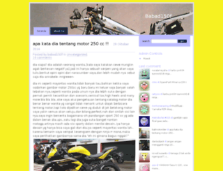 babad150f.wordpress.com screenshot