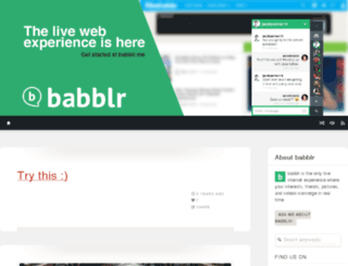 babblrchat.tumblr.com screenshot