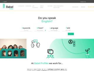 babelprofiles.com screenshot