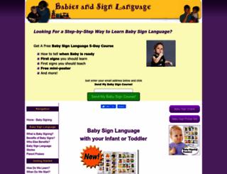 babies-and-sign-language.com screenshot