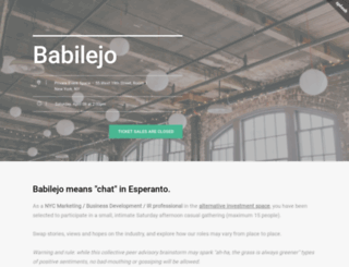 babilejo.splashthat.com screenshot