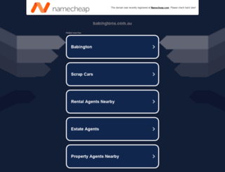 babingtons.com.au screenshot