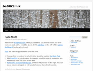 babuchnik.wordpress.com screenshot