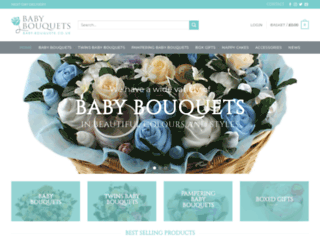 baby-bouquets.co.uk screenshot