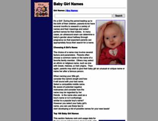 baby-girl-names.org screenshot