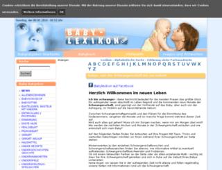 baby-lexikon.com screenshot