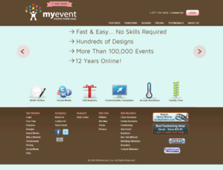 baby.myevent.com screenshot