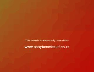 babybenefitsuif.co.za screenshot