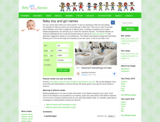 babyboyandgirlnames.com screenshot