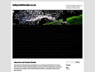 babycotsforsale.co.za screenshot