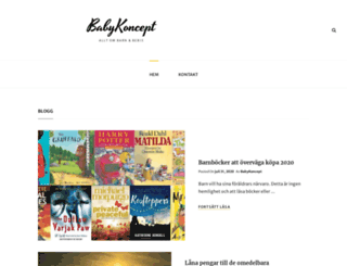 babykoncept.se screenshot