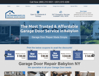 babylongaragedoorrepair.com screenshot
