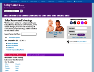 babynames.com screenshot