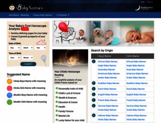 babynames.indastro.com screenshot
