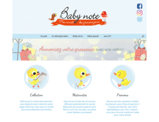 babynote.fr screenshot