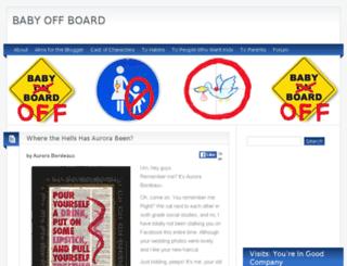 babyoffboard.com screenshot
