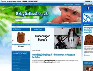 babyonlineshop.ch screenshot