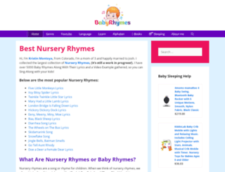 babyrhymes.com screenshot