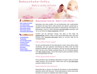 babyschuhe-info.de screenshot