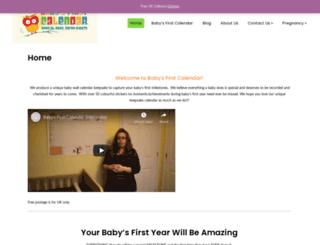 babysfirstcalendar.com screenshot