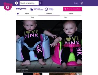 babyvote.co.uk screenshot