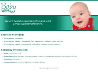 babyways.org screenshot