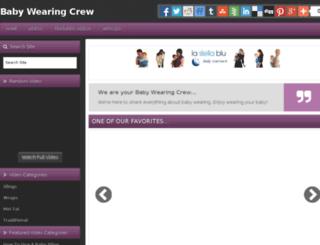 babywearingcrew.com screenshot
