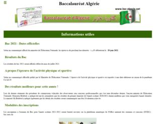 bac-algerie.net screenshot
