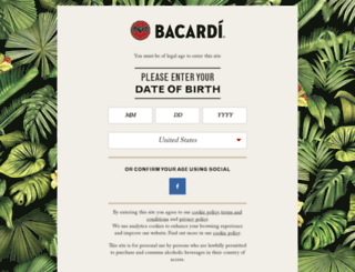 bacardimojito.it screenshot