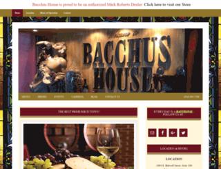 bacchushousebistro.com screenshot