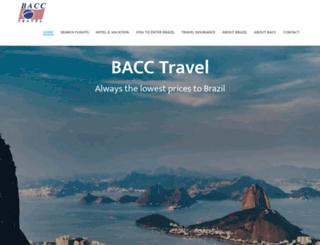 bacctravel.com screenshot