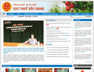 bacgiang.gdt.gov.vn screenshot