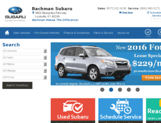 bachmansubaru.calls.net screenshot