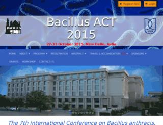 bacillusact2015.org screenshot