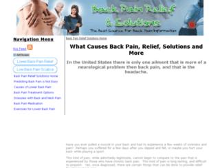 back-pain-relief-solutions.com screenshot