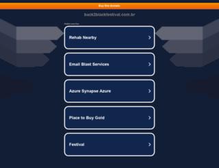 back2blackfestival.com.br screenshot