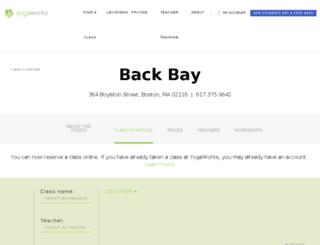 backbayyoga.com screenshot