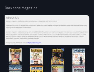 backbonemag.com screenshot