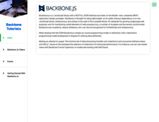 backbonetutorials.com screenshot