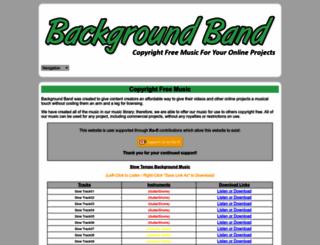 backgroundband.com screenshot