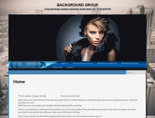 backgroundgroup.co.za screenshot