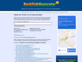 backlinkgenerator.net screenshot